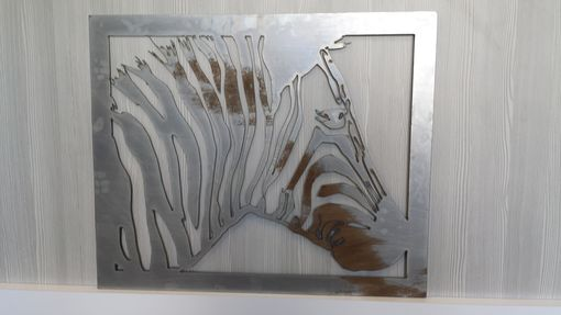 Custom Made #48 Steel Zebra Art