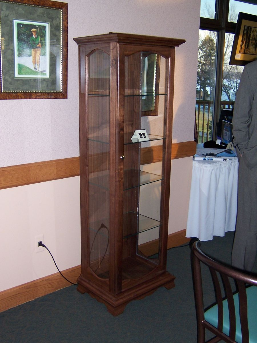 Handmade Walnut Curio Cabinet by JDM WoodWorks, LLC | CustomMade.com