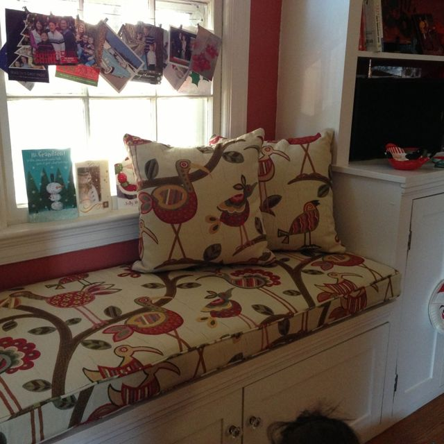 hand made custom kitchen bench cushion by hearth and home