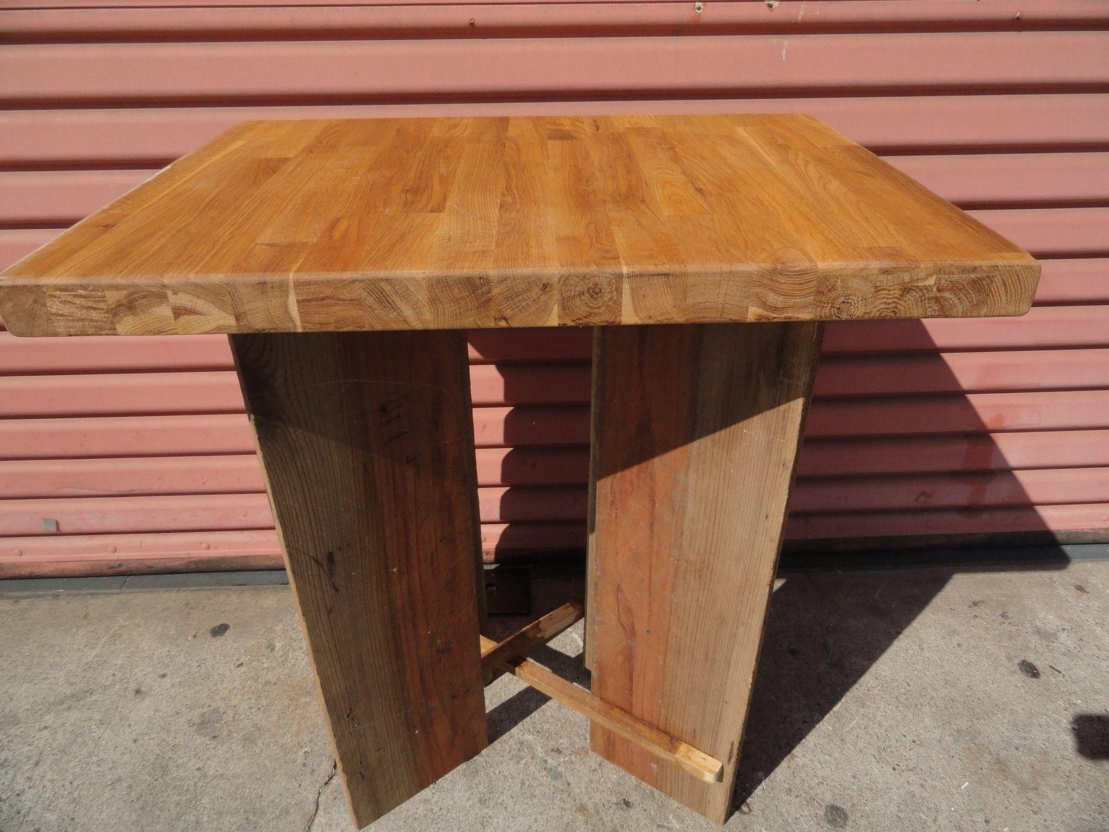 Hand Made Oak Butcher Block End Table By Jason Van Noord