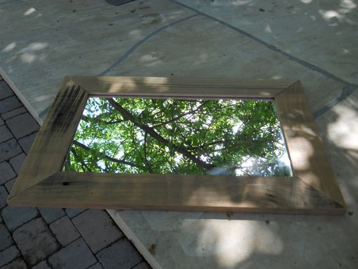 Custom Made Mirror With Barnwood Frame