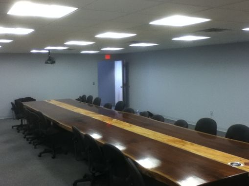 "Custom Made 26' Long 70"" Wide Boardroom Table Black Walnut Live Edge"