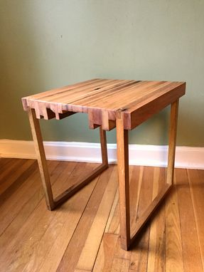 Custom Made End Table Set Mixed Hardwoods
