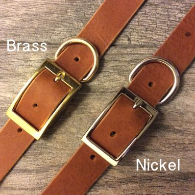 Custom Made Handmade Personalized Brown Leather Dog Collar With Free Name