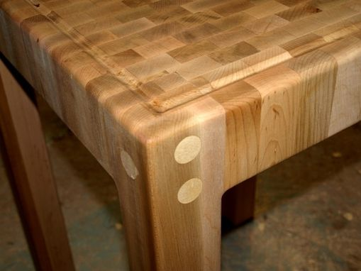 Custom Made Stand Alone Butcher Block