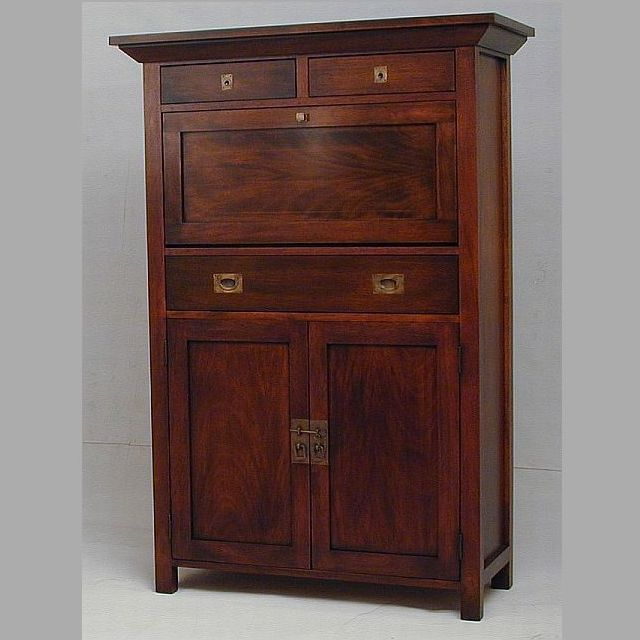 Custom Made Mahogany Liquor Wine Cabinet