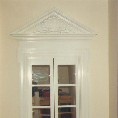 Custom Made Carved Pediment