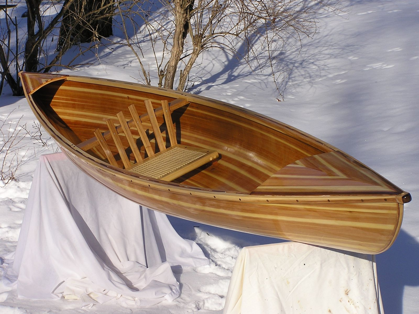 Hot foam strip canoe