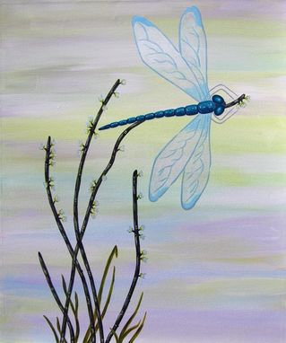 Custom Made Dragonfly 1/ Child Wall Art Owl Painting (Not A Print)