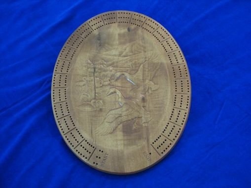 Custom Made Custom Carved Cribbage Board