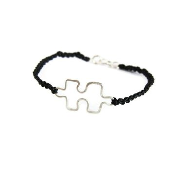 Custom Made Autism Awareness Sterling Silver Bracelet