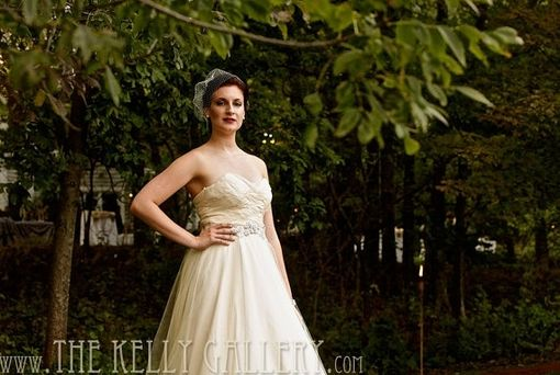 Custom Made Prairie Rose Eco Wedding Ball Gown