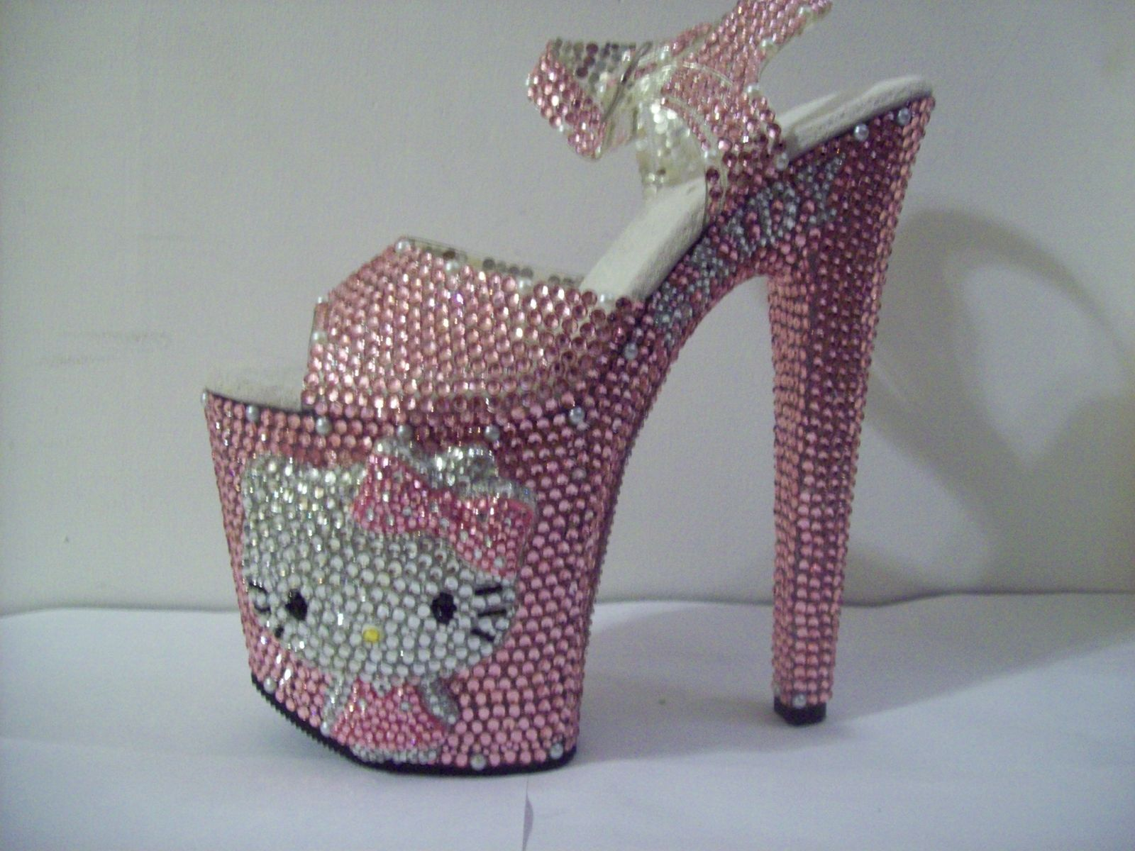 35b9b741d Buy Hand Made 3d Crystallized Hello Kitty Heels, made to order from ...