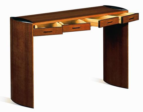 Custom Made Veneered Austrailian Lacewood Desk