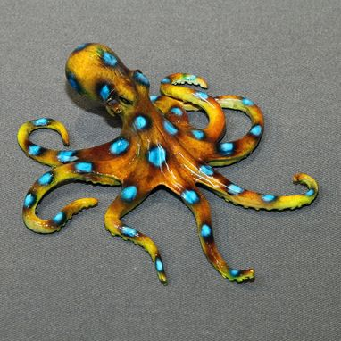 "Custom Made Bronze Octopus ""Ophelia Octopus"" Figurine Statue Sculpture Aquatic Limited Edition Signed Numbered"