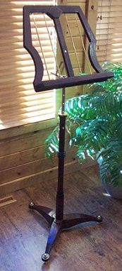 Custom Made Music Stand In Sapele And Brass