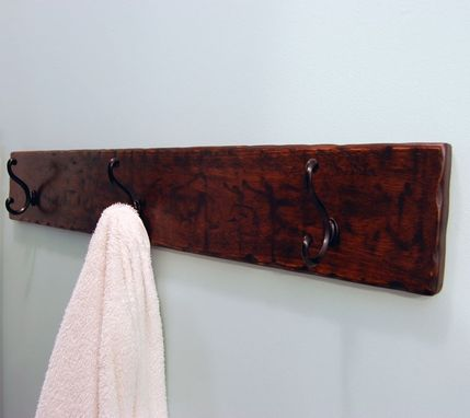 Custom Made Wood Coat/Towel Rack Espresso