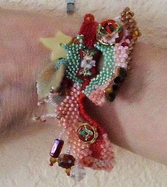 Custom Made Freeform Peyote Beaded Bracelet