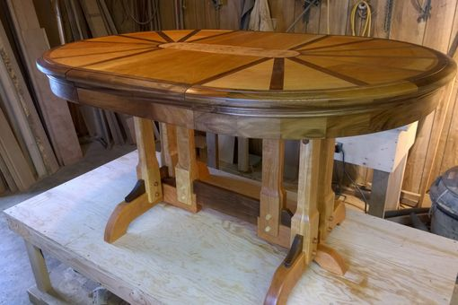 Custom Made Wagon Wheel Themed Table