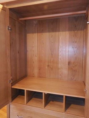 Custom Made White Oak Wardrobe