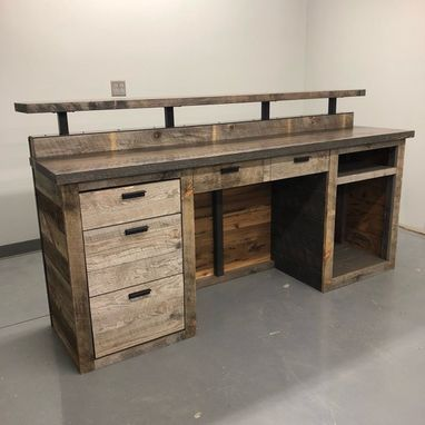 Custom Made Barn Wood Reception Desk / Front Counter / Hostess Station