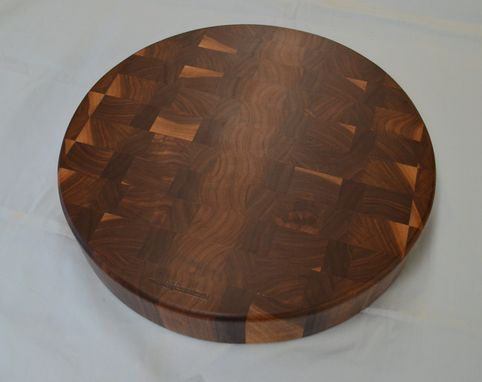 Custom Made Round End Grain Cutting Board