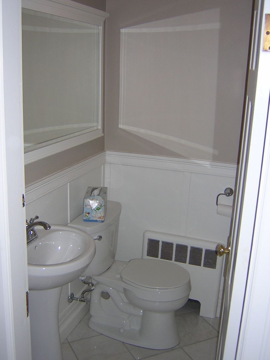 Custom small bathroom remodel by wooden hammer llc for Remodeling a tiny bathroom