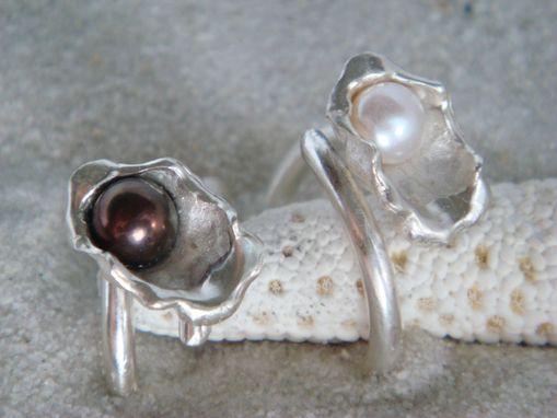 Custom Made Oyster Ring With Cultured Pearl