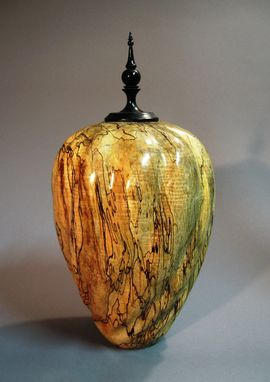Custom Made Fluted Silver Maple Vase