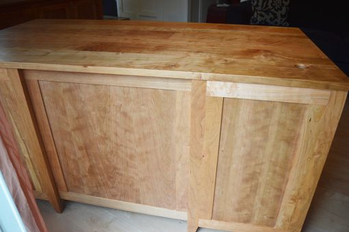 Custom Made Figured Solid Cherry Executive Desk