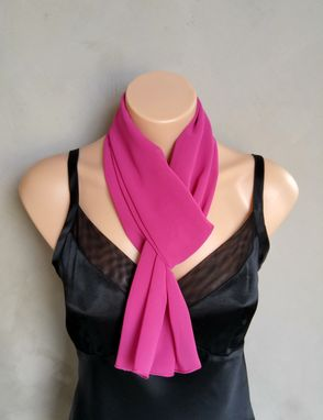 Custom Made Fushia Chiffon Scarf