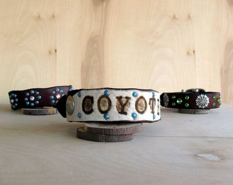 Custom Made Dog Collar, Southwest Funk, Leather