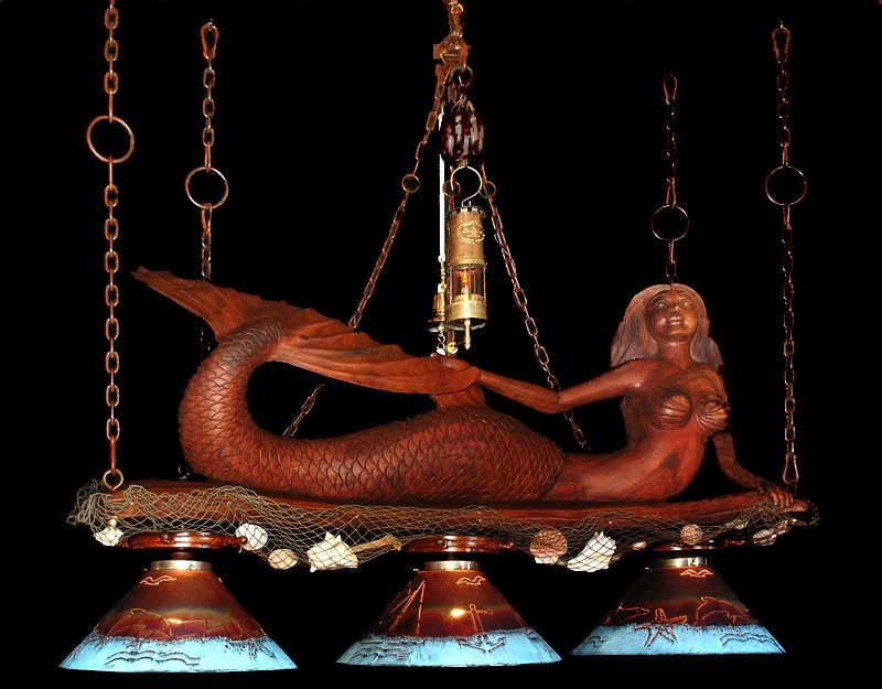Hand Crafted Mermaid Chandelier By Southwest Style Decor