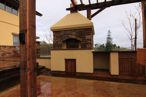 Custom Made Outside Kitchen, Fireplace, Pizza Oven, Pergola,