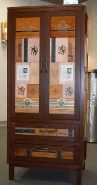Custom Made Cigar Box Armoire