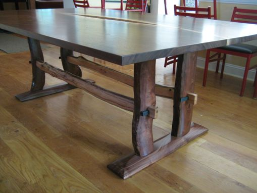 Custom Made Walnut Flitch Dining Table