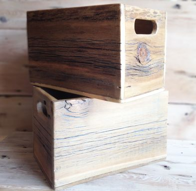Custom Made Reclaimed Wood Storage Boxes