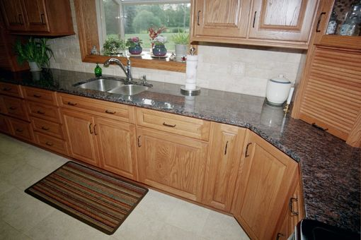 Custom Made Red Oak Kitchen