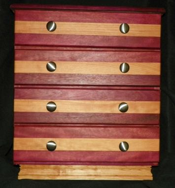 Custom Made Cherry/Purpleheart Jewelry Chest