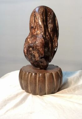 Custom Made Burl Wood Egg Sculpture