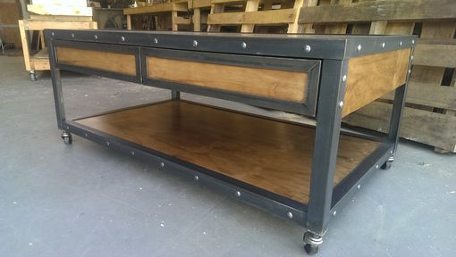 Custom Made Industrial Coffee Table #019