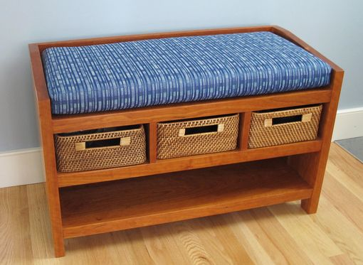 Custom Made Hall Bench With Storage