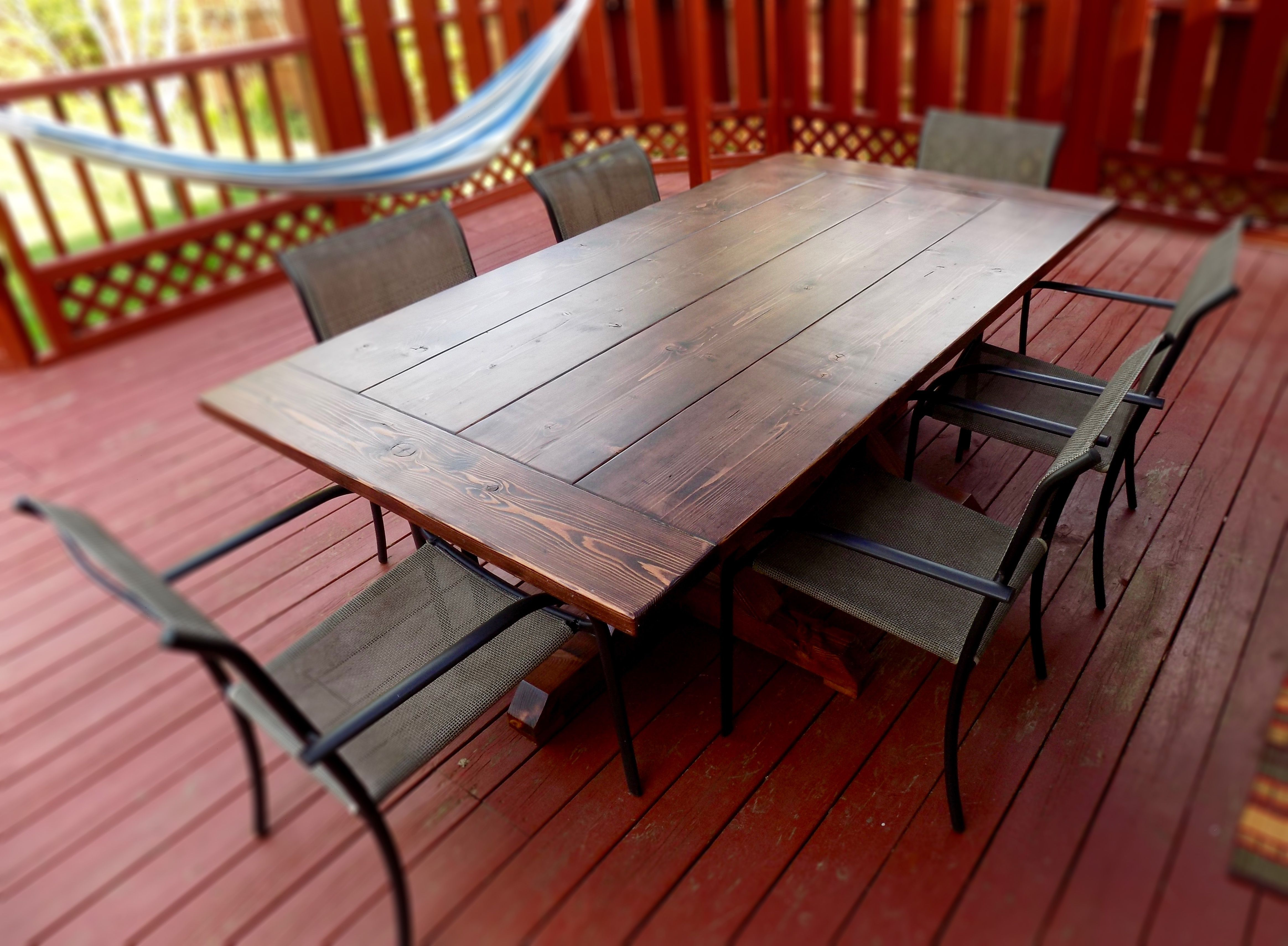 Hand Crafted Rustic Farm House Indoor Outdoor Dining Table ...