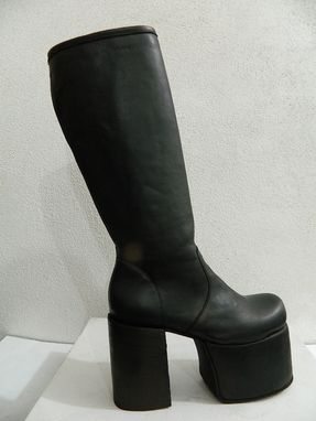 Custom Made Platform Glam Rock Era  Boots Made Of Leather