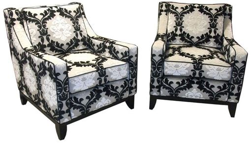 Custom Made Flow-Matched Living Room Chairs