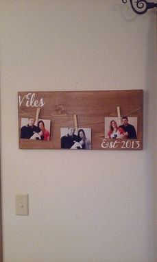 Custom Made Last Name Photo Holder Sign