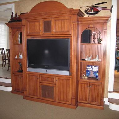 Custom Made Entertainment Center And Equipment Cabinet