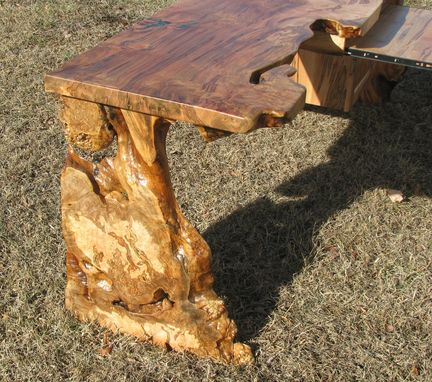 Custom Made Custom Desk, Ambrosia Maple, Inlaid