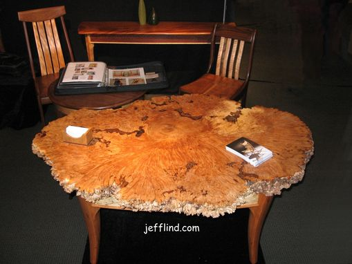Custom Made Burl Coffee Table