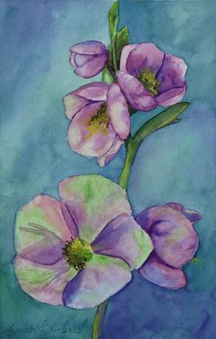 Custom Made Small Watercolor Flower Painting